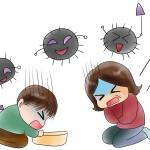 子供が風邪の症状で苦しんでいる時にすべき事とは?