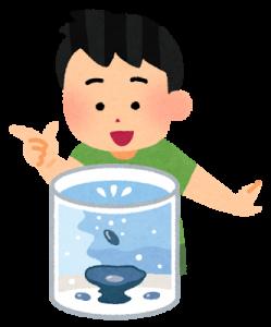 水槽に魚を入れる