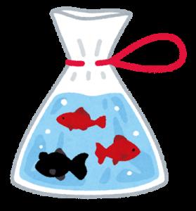 ビニールに入った魚