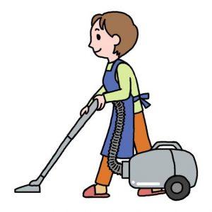 掃除をする人