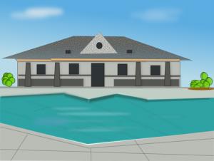 プール付き建物