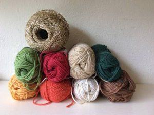 いろんな種類の毛糸