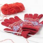 手袋を編む
