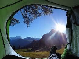 テントから見る景色