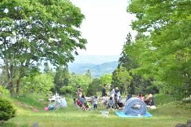 春のキャンプコーデ