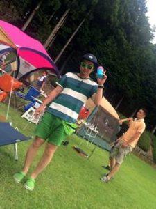 夏のメンズコーデ(キャンプ)