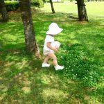 幼児の帽子